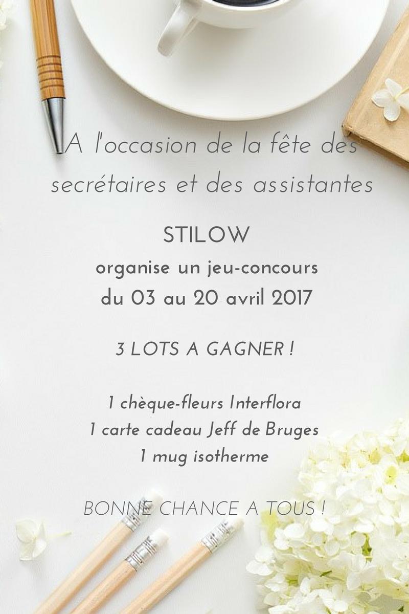 Carte Cadeau Jeff De Bruges.Concours Fete Des Secretaires 2017 Organise Par Stilow